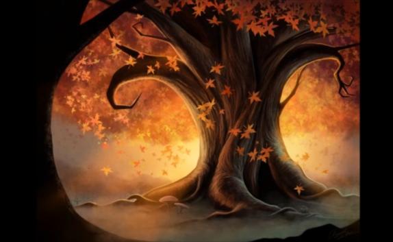 arbre automne illustration